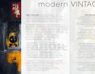 modernVINTAGE - Print Concept