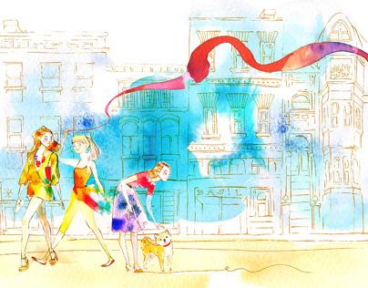 VOGUE JAPAN editorial illustration