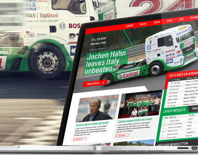 Castrol Team Hahn Responsive Website design