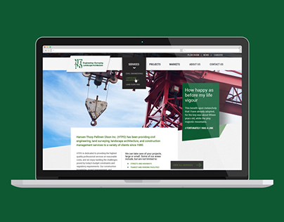 Civil and Landscape Engineering Website Redesign