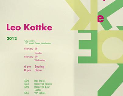 Typographic Poster - Leo Kottke Concert