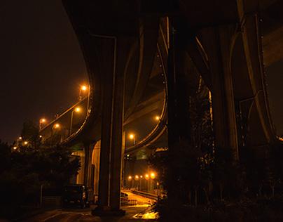 Night cityscape.  Chongqing