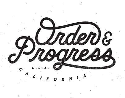Order & Progress Apparel.