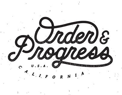 Order & Progress Apparel.
