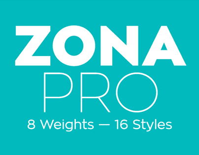 Zona Pro – 16 fonts – Free Demo