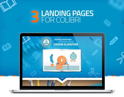 Colibri - Landing pages