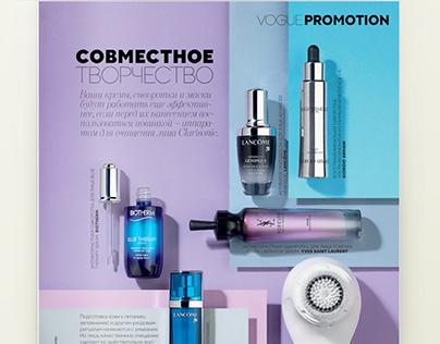 Vogue magazine advertorial