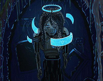 Techno-Mystic Tarot Card: The Empress