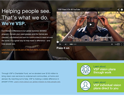 VSP Charity Landing Page