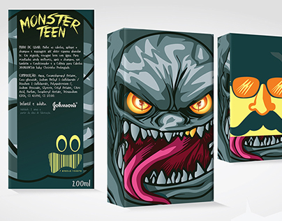 Embalagem para Shampoo Monster Teen (Packaging)