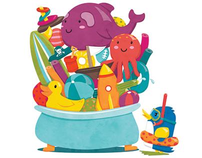 Bentos Bath Time Childrens Book Dummy