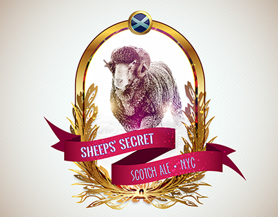 Sheep's Secret Scottish Ale Logo Re-Design
