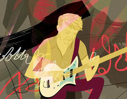 Nels Cline for Jazz & Draw Blog