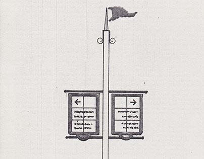 Exterior signage sketches