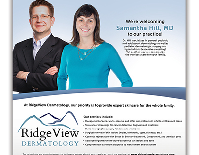 Ridgeview Dermatology Ad