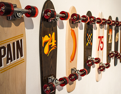 Handpainted Skateboards