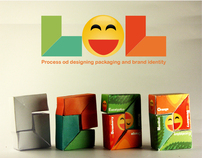 LOL chewing gum - Process of designing packaging