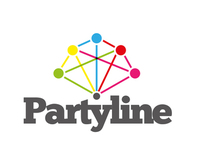 Partyline logo design