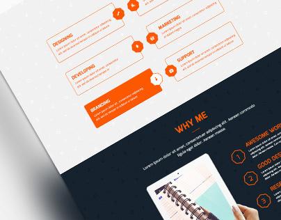 Bengo - OnePage Creative PSD Template