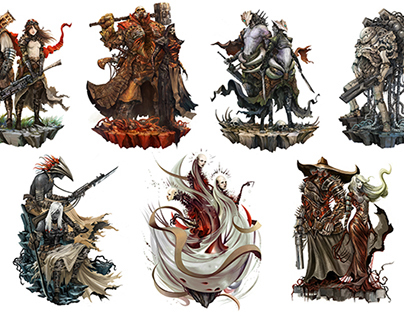 Shattered RPG - Ultimate Playable Characters Lineup