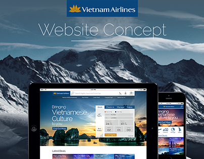 Vietnam Airlines Website Concept