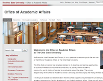 Office of Academic Affairs Website Design