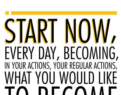 Start Now Typography