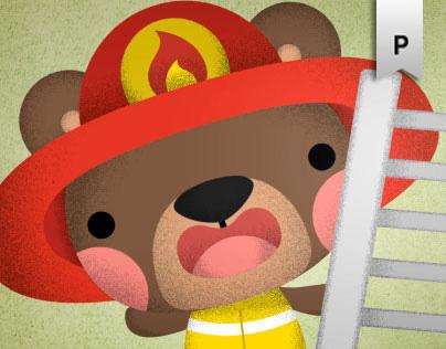 Drive the fire truck - kiboomu animation