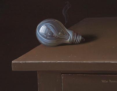 Still-life with light bulb