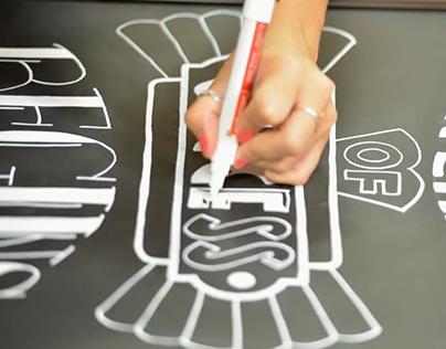 ASU Chalk-lettered Hand Illustration