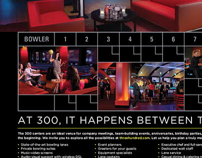 Newspaper insert for 300 Bowling
