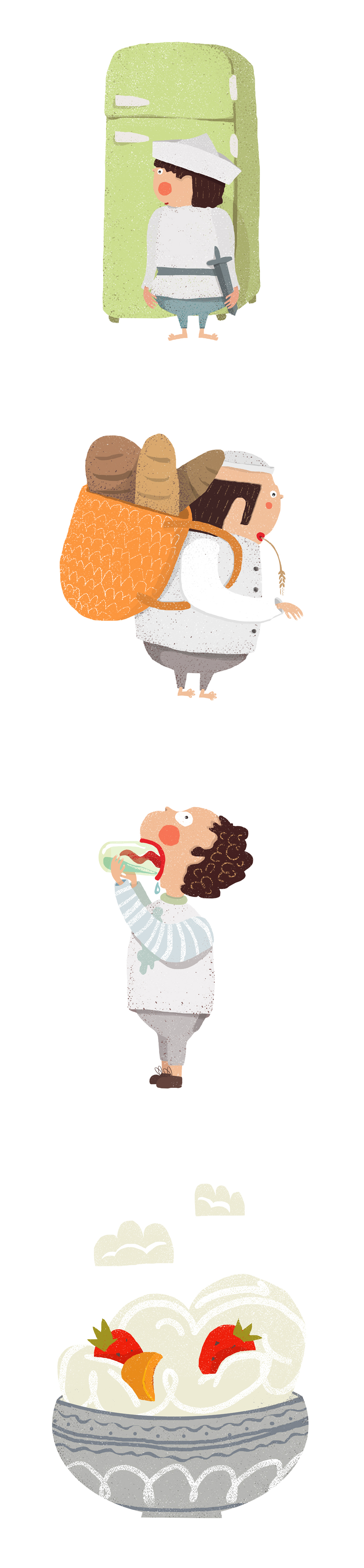 SERIES OF ILLUSTRATIONS - DANONE