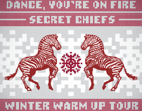 Dance, Youre on Fire - Winter Tour 2011 - Poster