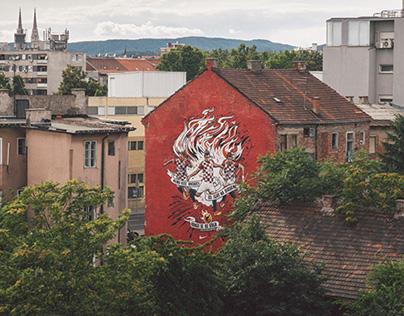 Nike mural Zagreb