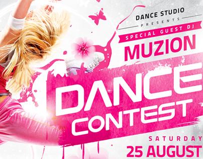 Dance Contest Flyer vol.2, PSD Template