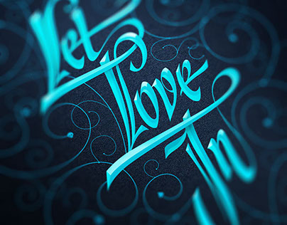 Let Love In Typography Poster