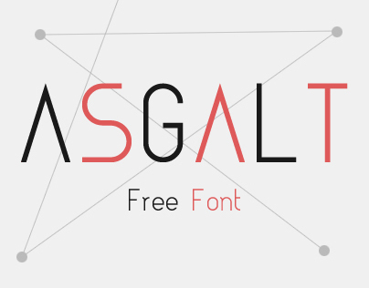 Typography: Asgalt Free Font