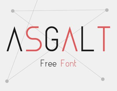 Typography: Asgalt Free Font