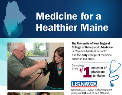 Healthier Maine Ad in Portland Press Herald
