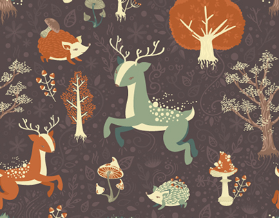 Forest Magic Seamless Patterns