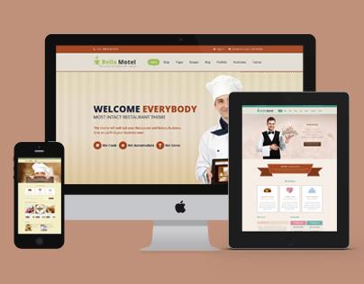 Bella Motel - Restaurant & Bakery Responsive HTML
