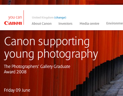 Canon Europe redesign - Pitch 2
