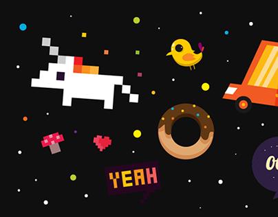 Illustration Compilation. Pixel + Vector