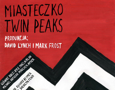 Twin Peaks - Movie Poster in Polish School Style
