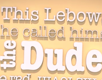 The Big Lebowski Typography Animation