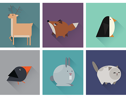 Geometric animals icons