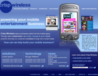 CRISP WIRELESS: Website Design, Art Direction
