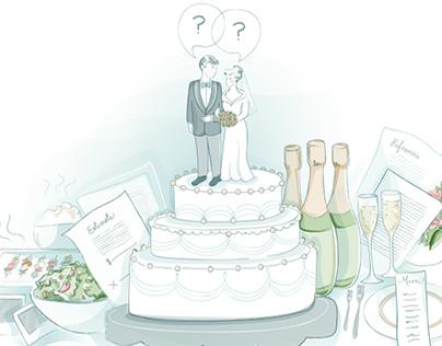 Denver Life Magazine: Wedding Edition Illustration