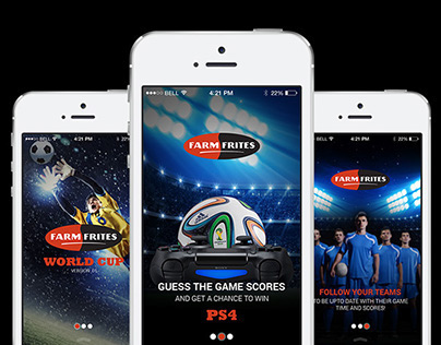 Farmfrites Worldcup | Guess & Win | Mobile App | UI/UX