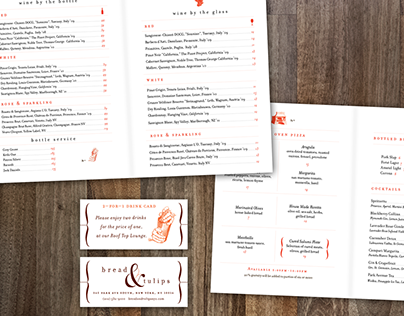Bread & Tulips Menu Design & Collateral